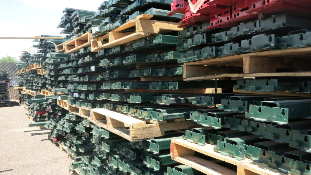 Pallets of commerical bulk storage